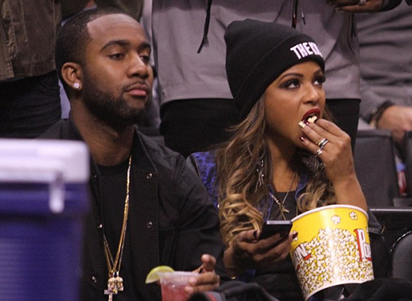Kemi Online ♥: Christina Milian & boyfriend Jas at Clippers Game