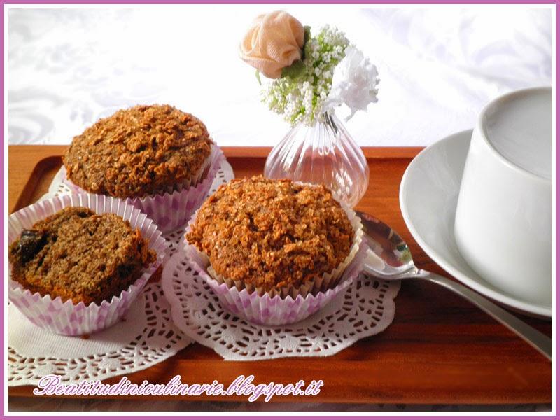 muffins di grano saraceno alla prugna e cannella