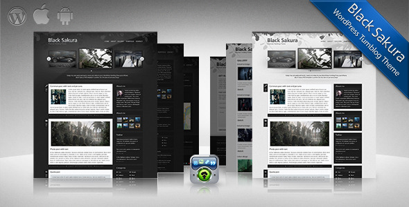 Black Sakura WP WordPress Theme Free Download by ThemeForest.