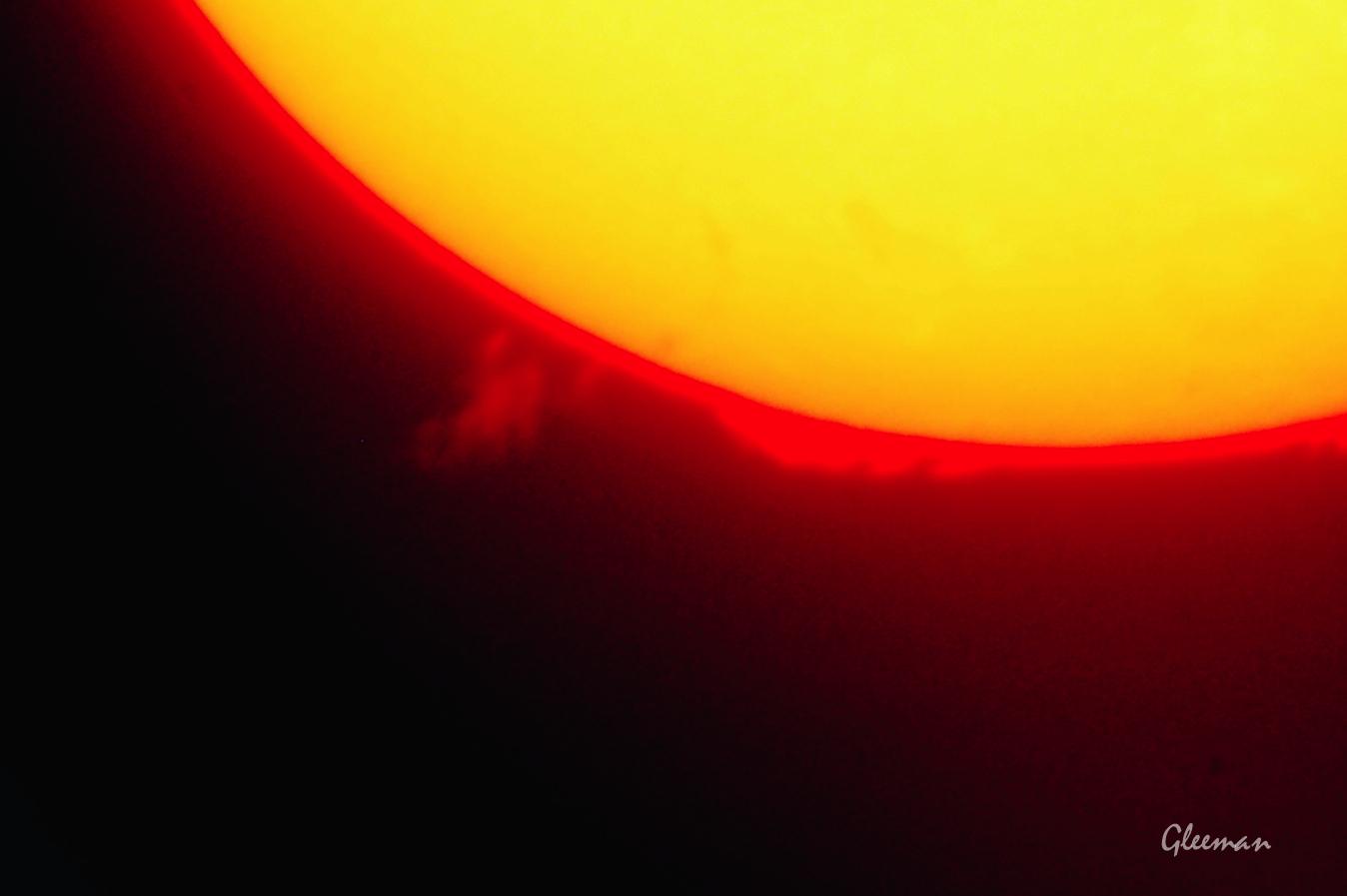 H-Alpha濾鏡下的日珥