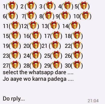 Select the Whatsapp Dare