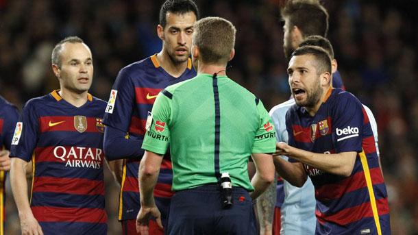 Jordi Alba valoró el FC Barcelona-Celta en zona mixta