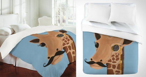 Gentleman Giraffe Duvet Cover