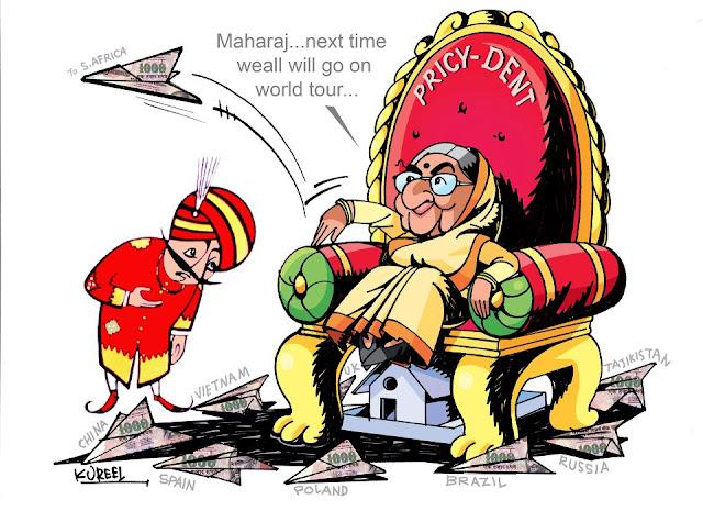 Cartoons on Indian PresiDent by Manoj Kureel