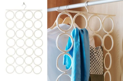 Closet tour top 5 organization tips from head to toe for Scarves hanger ikea