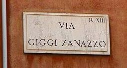 Roma - strada dedicata a Giggi Zanazzo