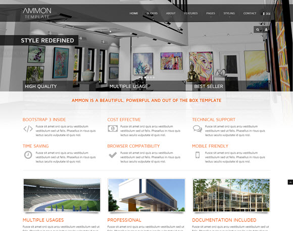 Ammon Responsive Template for Joomla