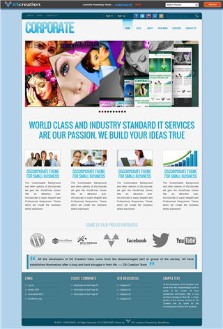 Free Wp Theme Responsive  CORPORATE