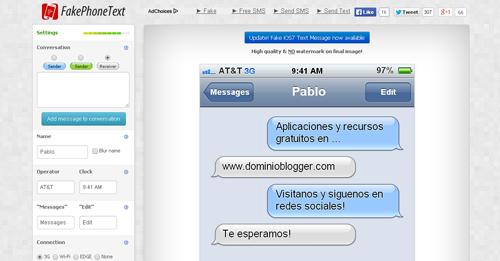 Crea chats falsos en tu iPhone con FakeiPhonetext