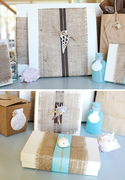 Burlap Gift Wrapping Idea