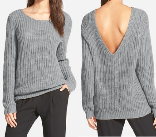 Fall fashion - Leith V-back sweater, Business in the front, party in the back! ;)