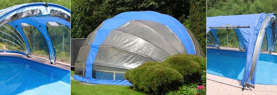 Cubiertas para piscinas altas guia piscinas for Piscinas plegables