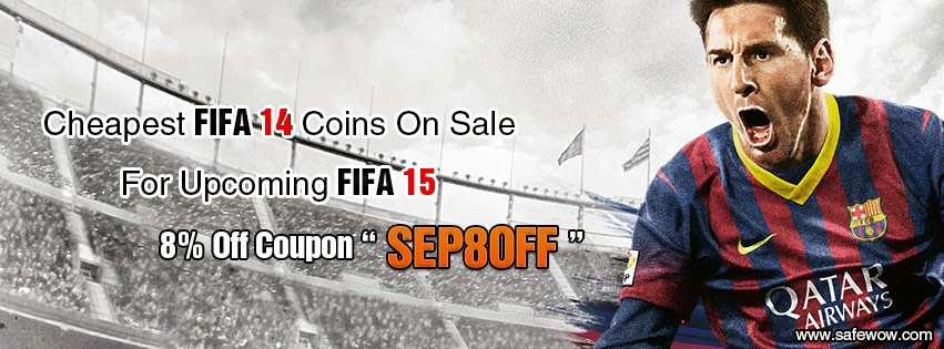 get fifa 14 coins from safewow with 8% discount