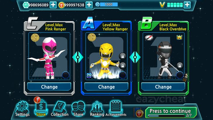 Power Rangers Dash Cheats