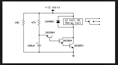 Delayed Turn-On Relay Circuit