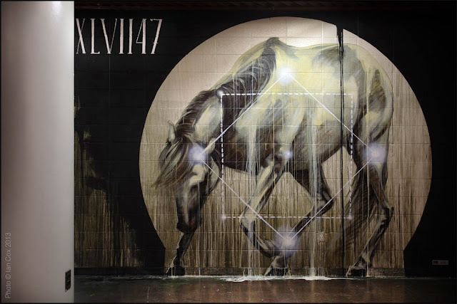 New Indoor Piece By South African Artist Faith47 For The Aqueduct Murals in Queens. 1
