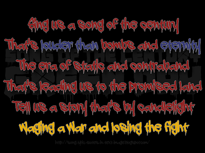 Song Of The Century - Green Day Song Lyric Quote in Text Image