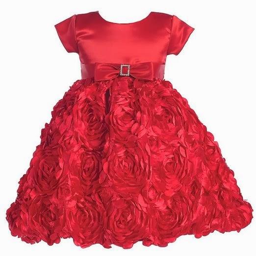 Girls formal christmas dress red rostte little girls christmas holiday