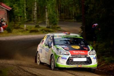 Simone Tempestini si Dorin Pulpea - Citroen DS3 R3 - Raliul Finlandei 2014