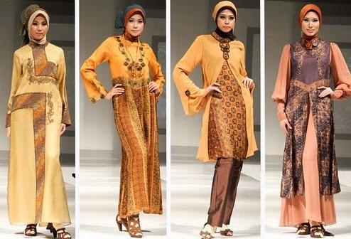 Busana muslim batik wanita untuk lebaran