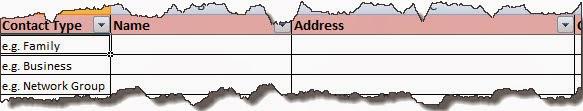 Jobsearch Appllication Organiser Tracker_Sneak Peek of Contact worksheet