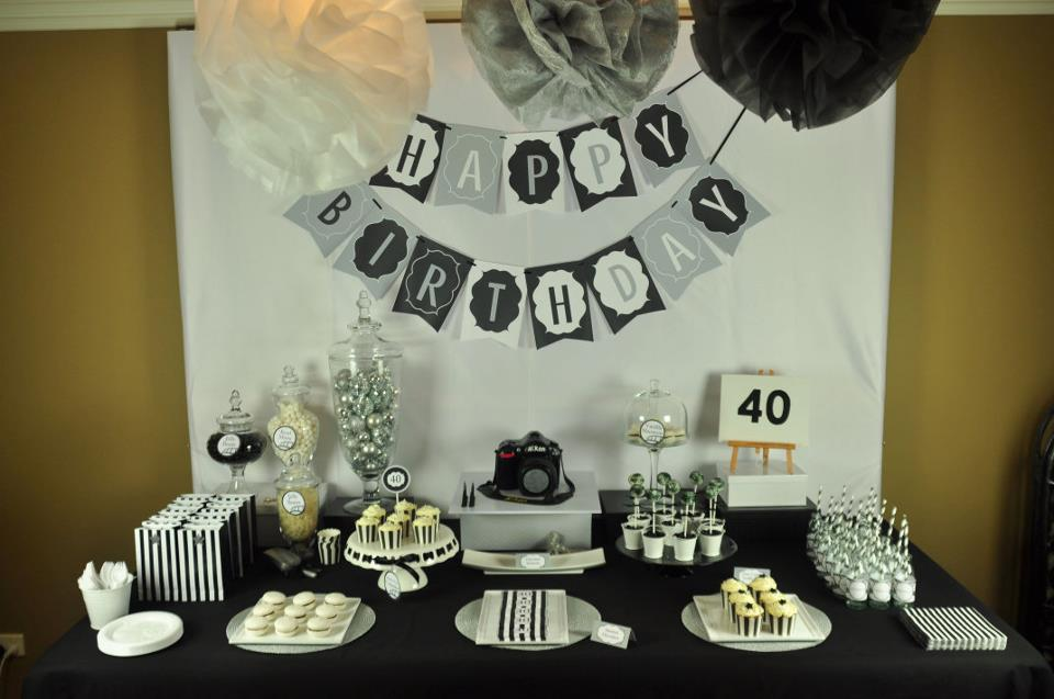 40th birthday table decoration ideas photograph 40th birth for 40th anniversary party decoration ideas