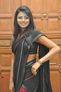 Haasika Picture Gallery in Black Saree at Prema Katha Chitram Audio Release Function  0013