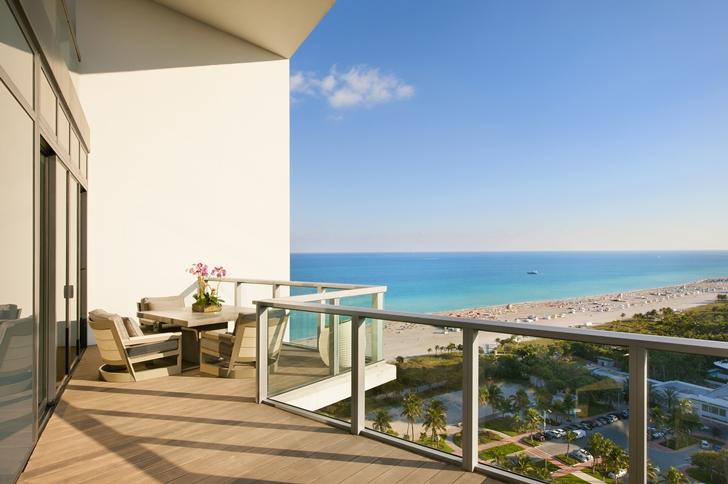 Balcony of Miami Beach Penthouse