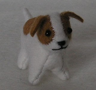 Free Knitting Pattern Jack Russell Dog : Free Felt Patterns and Tutorials: Free Felt Pattern > Mini ...