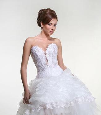 Puffy White Wedding Dress Designs