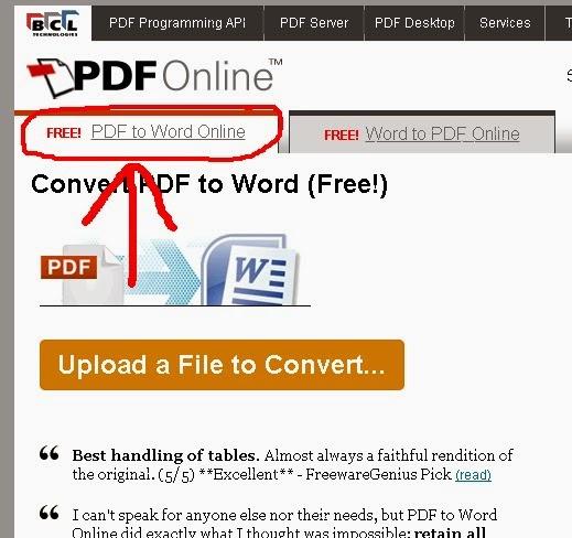 Mengconvert PDF ke Word atau Word