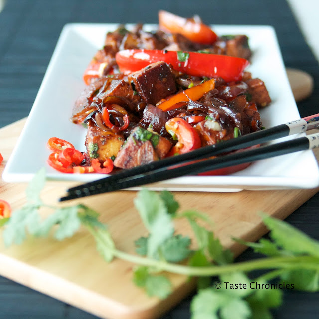 Quick and Easy Indo Chinese Chili Paneer