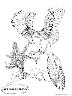 Mewarnai Gambar Dinosaurus Archaeopteryx