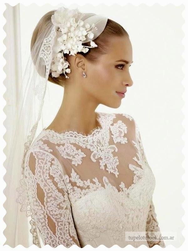 peinados 2015 para novias recogidos velos