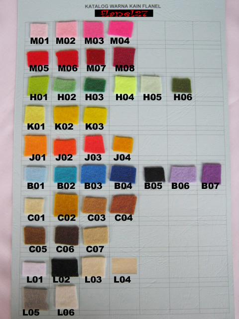pada saat menentukan warna kain berikut adalah katalog warna kain
