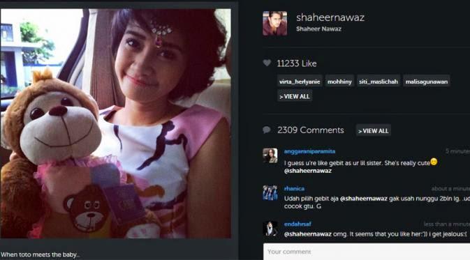 gebit Shaheer Sheikh Sudah Temukan Tambatan Hati di Indonesia?
