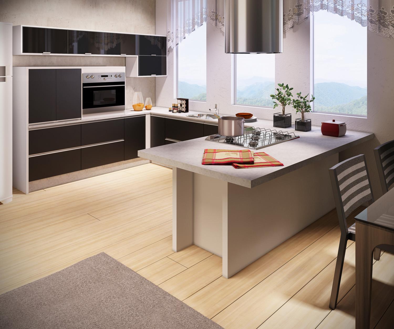 Designer Vanessa Ferraz: Fotos de Cozinha #9E5E2D 1500 1250