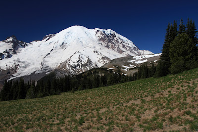 View of Rainier from Trail to Berkeley Camp
