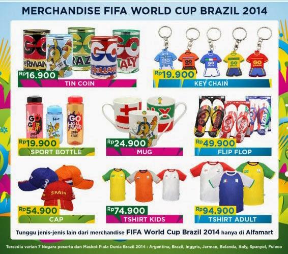 Pilihan merchandise di Alfamart official partner merchandise FIFA piala dunia Brazil 2014