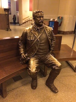 Chuck and Lori's Travel Blog - Teddy Roosevelt in Bronze, American Museum of Natural History