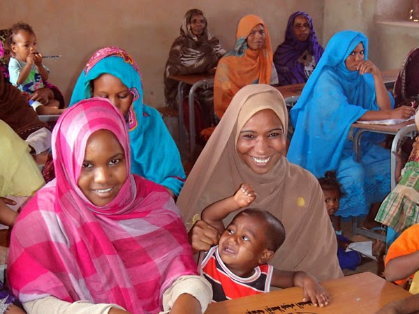 Women in need of basic literacy