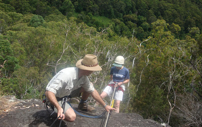Abseiling at Binna Burra