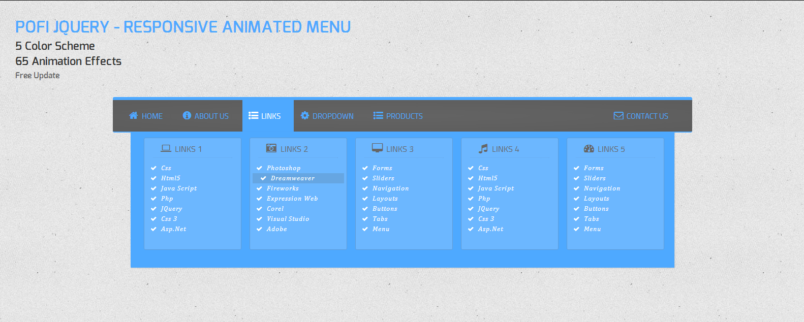Pofi – Responsive Animated Menu