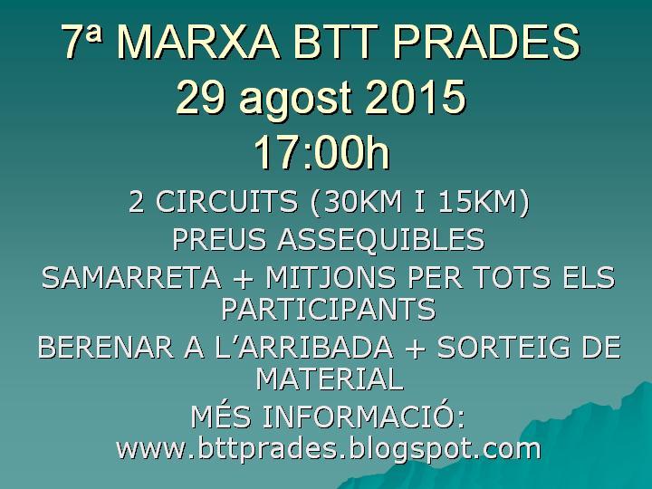 7ª MARXA BTT PRADES