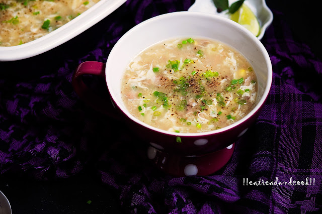 how to make chinese egg and sweetcorn soup recipe