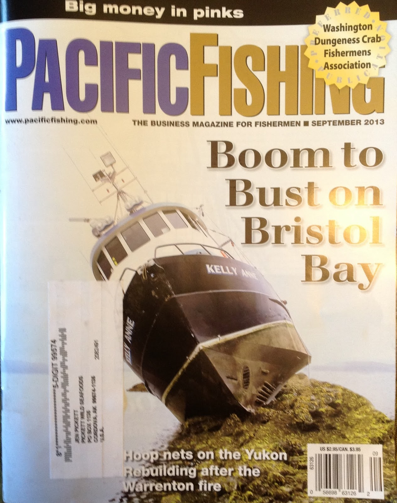 Pickfish tales my photos made it into pacific fishing for Pacific fishing magazine