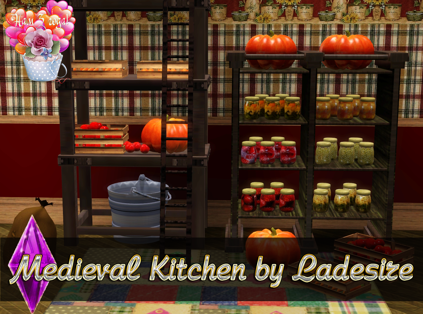 Sims 3 Kitchen Ladesires Creative Corner Ts3 Medieval Kitchen By Ladesire