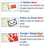 Google +1 button to blogger blog using widget