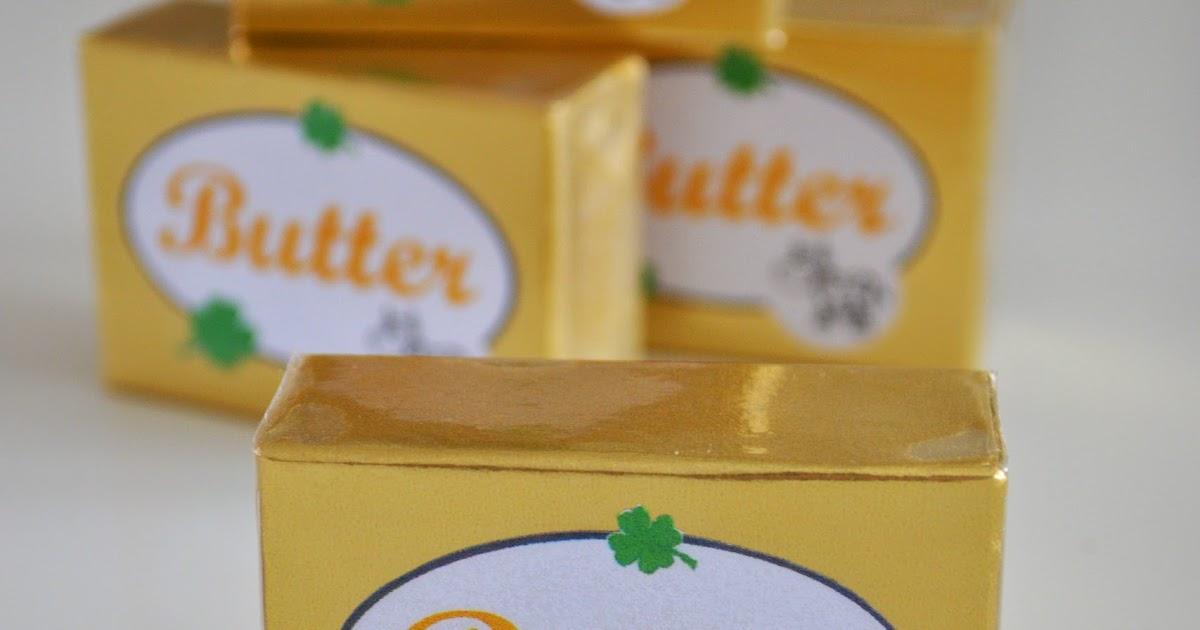 Klitzekleinchen butter f r den kaufladen for Durchsichtige klebefolie