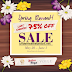 Last day of the Spring Blowout Sale - now 75%OFF